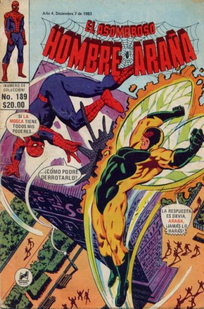 Cover for El Asombroso Hombre Araña (Novedades, 1980 series) #189