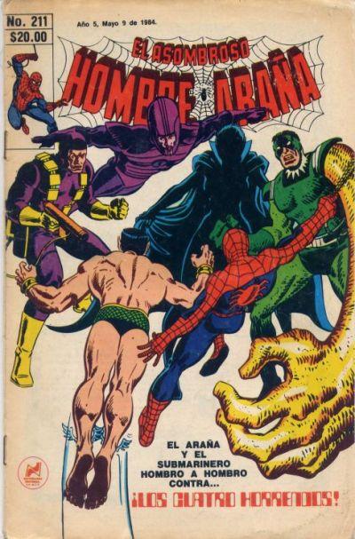 Cover for El Asombroso Hombre Araña (Novedades, 1980 series) #211