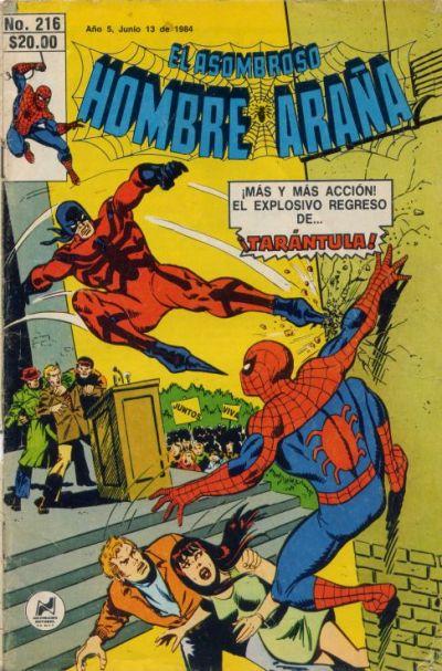 Cover for El Asombroso Hombre Araña (Novedades, 1980 series) #216