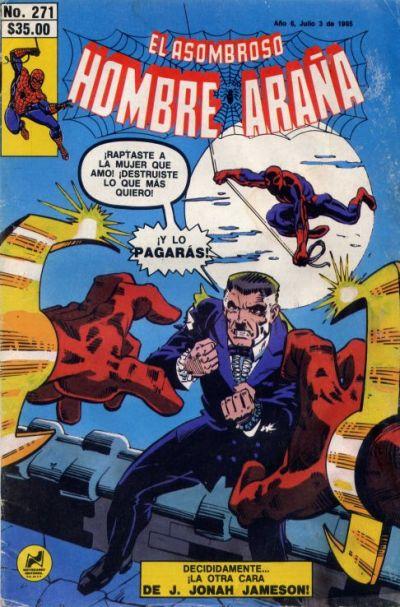 Cover for El Asombroso Hombre Araña (Novedades, 1980 series) #271