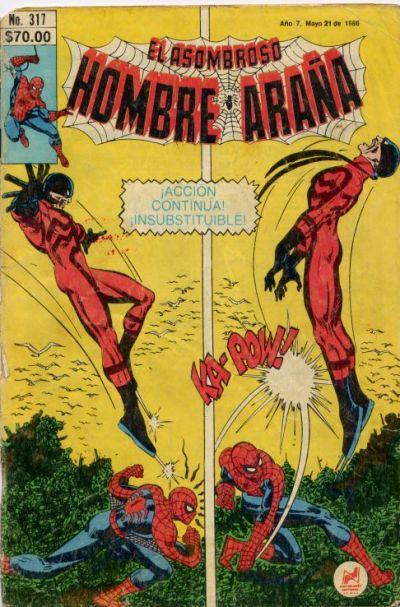 Cover for El Asombroso Hombre Araña (Novedades, 1980 series) #317