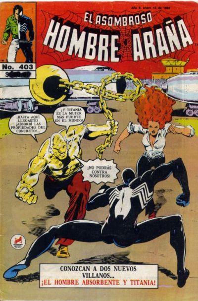 Cover for El Asombroso Hombre Araña (Novedades, 1980 series) #403