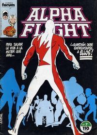 Cover Thumbnail for Alpha Flight (Planeta DeAgostini, 1985 series) #7
