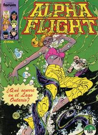 Cover Thumbnail for Alpha Flight (Planeta DeAgostini, 1985 series) #11