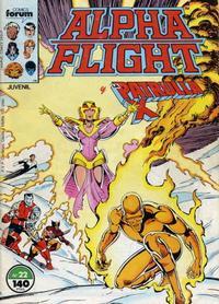 Cover Thumbnail for Alpha Flight (Planeta DeAgostini, 1985 series) #22