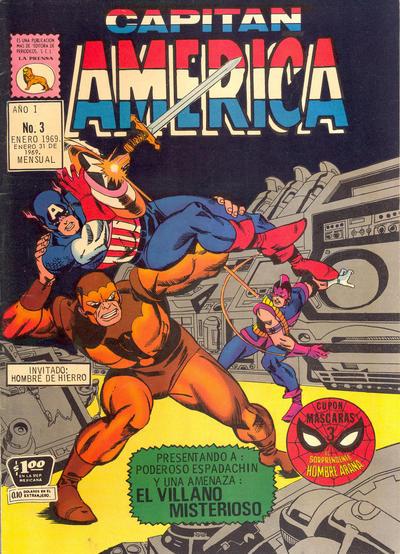 Cover for Capitán América (Editora de Periódicos La Prensa S.C.L., 1968 series) #3