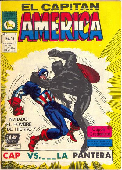 Cover for Capitán América (Editora de Periódicos La Prensa S.C.L., 1968 series) #13