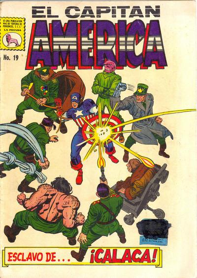 Cover for Capitán América (Editora de Periódicos La Prensa S.C.L., 1968 series) #19