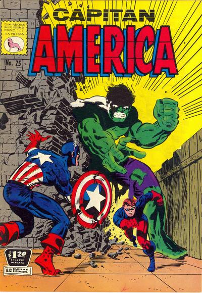 Cover for Capitán América (Editora de Periódicos La Prensa S.C.L., 1968 series) #25
