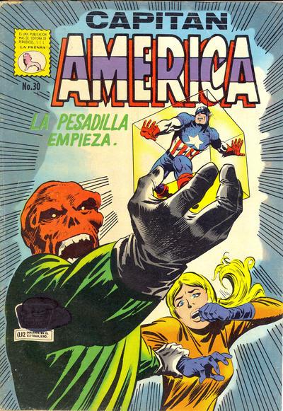 Cover for Capitán América (Editora de Periódicos La Prensa S.C.L., 1968 series) #30