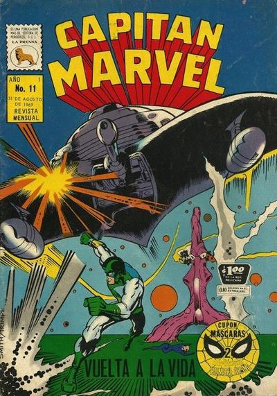 Cover for Capitán Marvel (Editora de Periódicos La Prensa S.C.L., 1968 series) #11