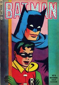 Cover Thumbnail for Batman (1ª Série) (Editora Brasil-América [EBAL], 1953 series) #9