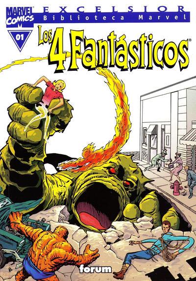 Cover for Biblioteca Marvel: Los 4 Fantásticos (Planeta DeAgostini, 1999 series) #1