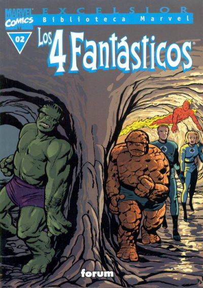 Cover for Biblioteca Marvel: Los 4 Fantásticos (Planeta DeAgostini, 1999 series) #2