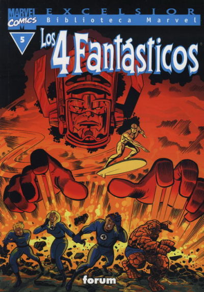 Cover for Biblioteca Marvel: Los 4 Fantásticos (Planeta DeAgostini, 1999 series) #5