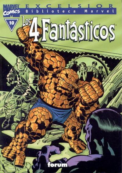 Cover for Biblioteca Marvel: Los 4 Fantásticos (Planeta DeAgostini, 1999 series) #10