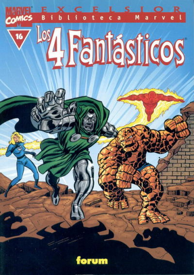 Cover for Biblioteca Marvel: Los 4 Fantásticos (Planeta DeAgostini, 1999 series) #16