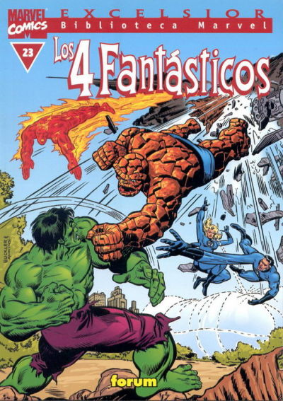 Cover for Biblioteca Marvel: Los 4 Fantásticos (Planeta DeAgostini, 1999 series) #23