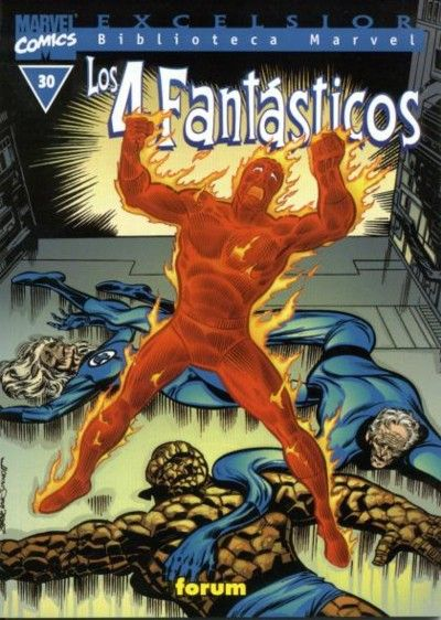 Cover for Biblioteca Marvel: Los 4 Fantásticos (Planeta DeAgostini, 1999 series) #30