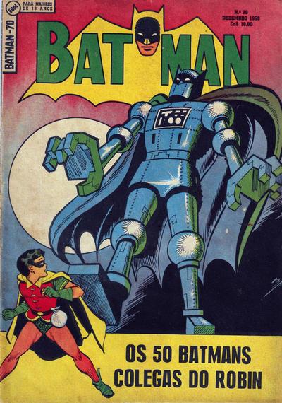 Cover for Batman (1ª Série) (Editora Brasil-América [EBAL], 1953 series) #70