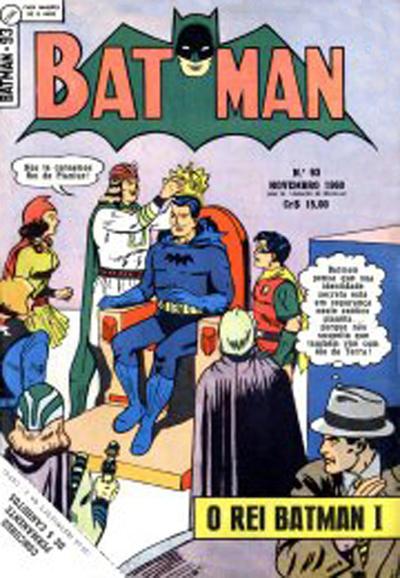 Cover for Batman (1ª Série) (Editora Brasil-América [EBAL], 1953 series) #93