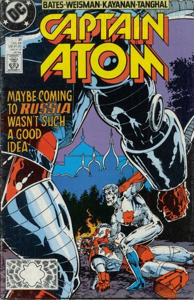 Cover for Captain Atom (DC, 1987 series) #31