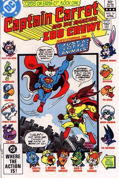 Cover for Captain Carrot and His Amazing Zoo Crew! (DC, 1982 series) #14 [Direct]
