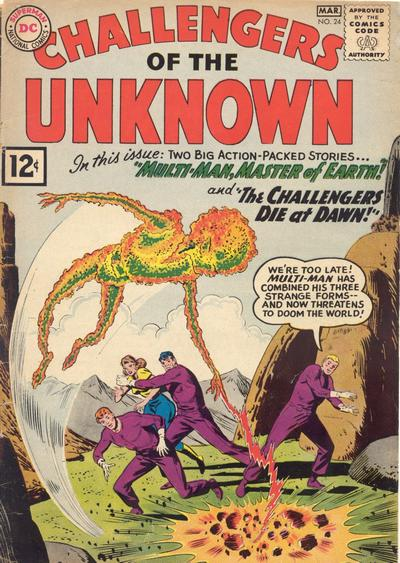 Cover for Challengers of the Unknown (DC, 1958 series) #24