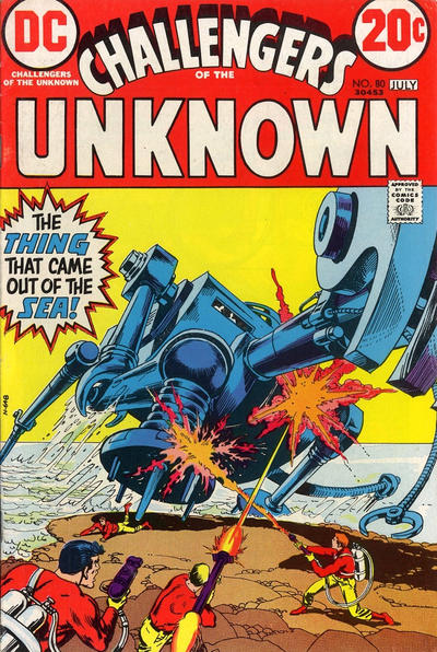 Cover for Challengers of the Unknown (DC, 1958 series) #80