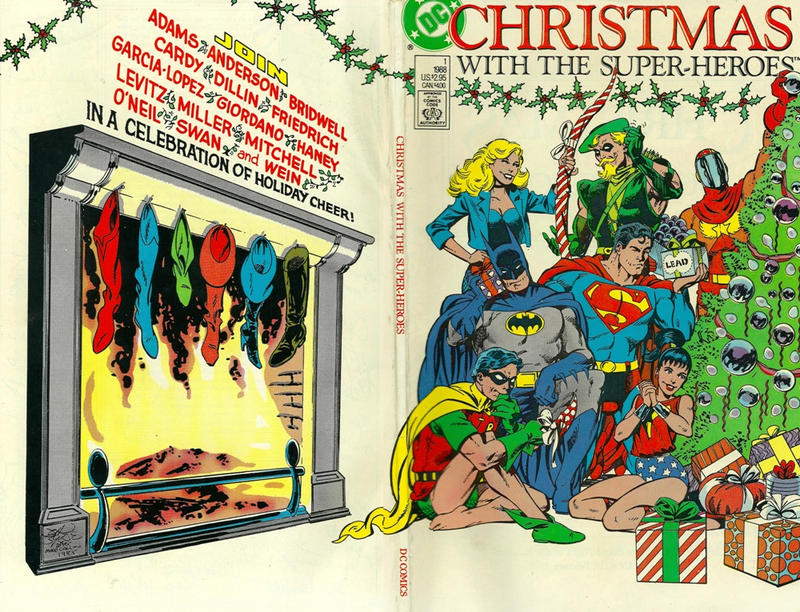 Cover for Christmas with the Super-Heroes (DC, 1988 series) #1 [Direct Sales]
