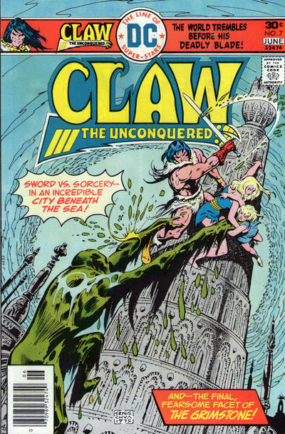 Cover for Claw the Unconquered (DC, 1975 series) #7