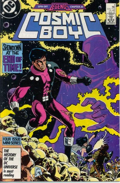 Cover for Cosmic Boy (DC, 1986 series) #4 [Canadian]