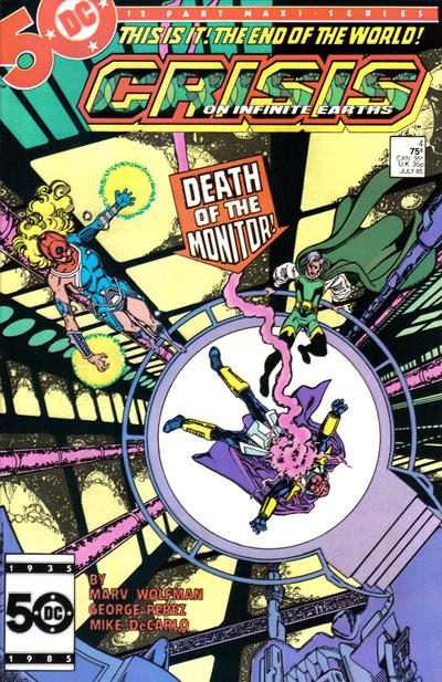 Cover for Crisis on Infinite Earths (DC, 1985 series) #4 [Direct]