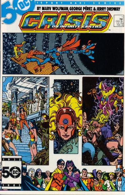 Cover for Crisis on Infinite Earths (DC, 1985 series) #11 [Direct Sales]