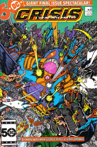 Cover for Crisis on Infinite Earths (DC, 1985 series) #12 [Newsstand]