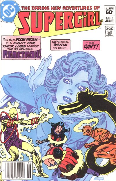Cover for The Daring New Adventures of Supergirl (DC, 1982 series) #8 [Direct-Sales]