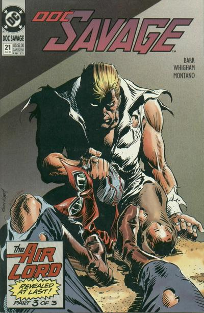 Cover for Doc Savage (DC, 1988 series) #21