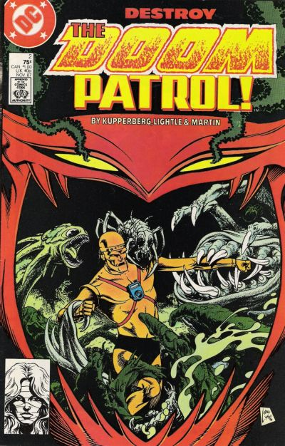 Cover for Doom Patrol (DC, 1987 series) #2 [Direct Edition]