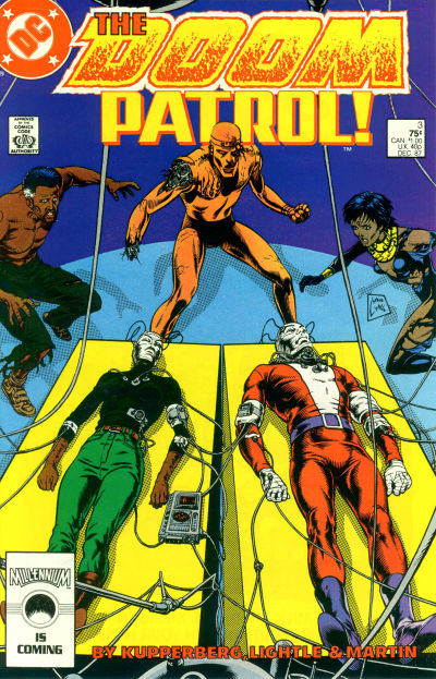 Cover for Doom Patrol (DC, 1987 series) #3 [Direct Edition]