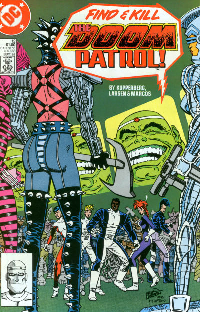 Cover for Doom Patrol (DC, 1987 series) #12 [Direct Edition]