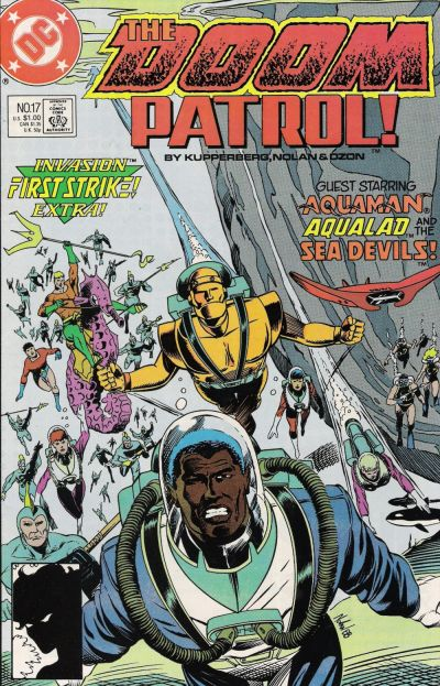Cover for Doom Patrol (DC, 1987 series) #17 [Direct Edition]