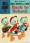 Cover for Dell Giant (Dell, 1959 series) #22 - Walt Disney's Huey, Dewey, and Louie Back to School