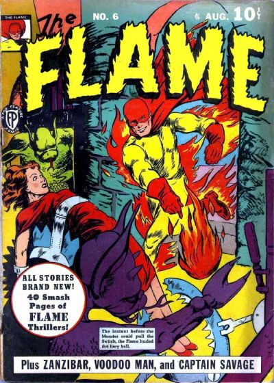 Cover for The Flame (Fox, 1940 series) #6