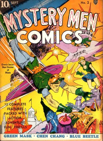 Cover for Mystery Men Comics (Fox, 1939 series) #2
