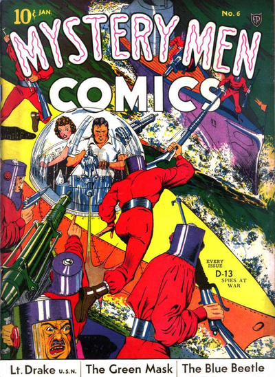 Cover for Mystery Men Comics (Fox, 1939 series) #6