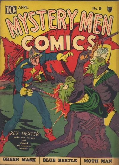 Cover for Mystery Men Comics (Fox, 1939 series) #9