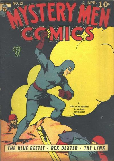 Cover for Mystery Men Comics (Fox, 1939 series) #21