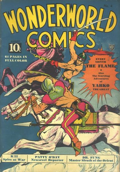Cover for Wonderworld Comics (Fox, 1939 series) #4