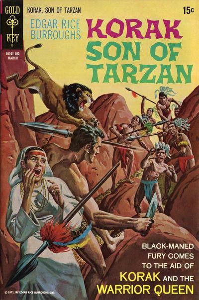 Cover for Edgar Rice Burroughs Korak, Son of Tarzan (Western, 1964 series) #40