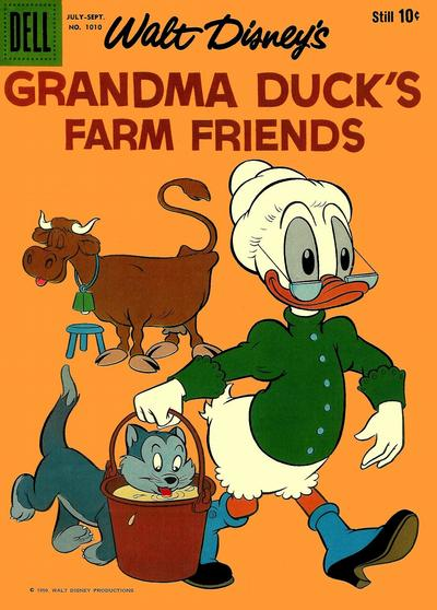 Cover for Four Color (Dell, 1942 series) #1010 - Walt Disney's Grandma Duck's Farm Friends